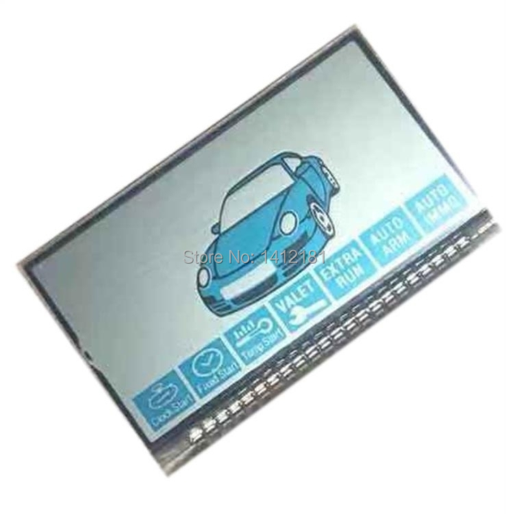 Wholesale 2pcs/lot B9 LCD Display Screen For Russian 2 Way Car Alarm System Starline B9 C9 Lcd Remote Control Key Chain Keychain