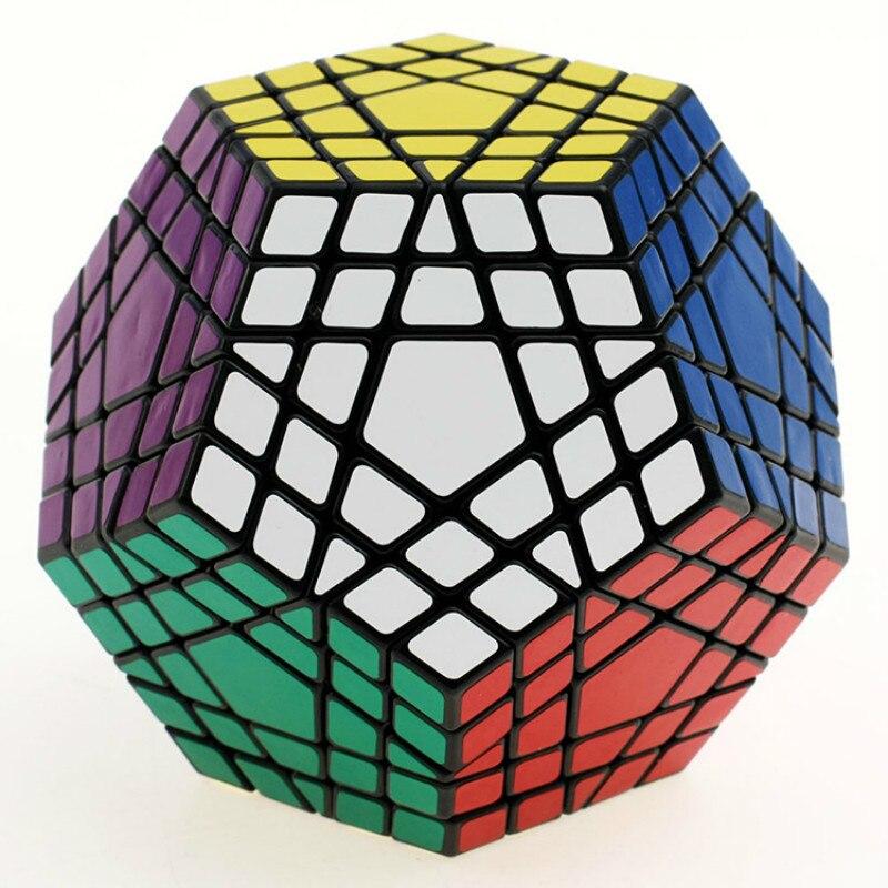 Shengshou 5 étapes magique Fidget Cube 12 côtés Megaminx Gigaminx 5x5 professionnel Dodecahedron Cube torsion Puzzle jouets éducatifs