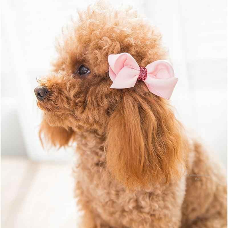 18 шт шерсти домашних животных собак на каждый день головное украшение для кошки галстуком-бабочкой плюшевый заколки формирования банта из волос заколки-клипсы для волос