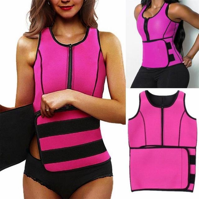 NEW Neoprene Sauna Vest Hot Body Shaper Slimming Waist Trainer Shaper Fashion Workout Shapewear Adjustable Sweat Belt Corset