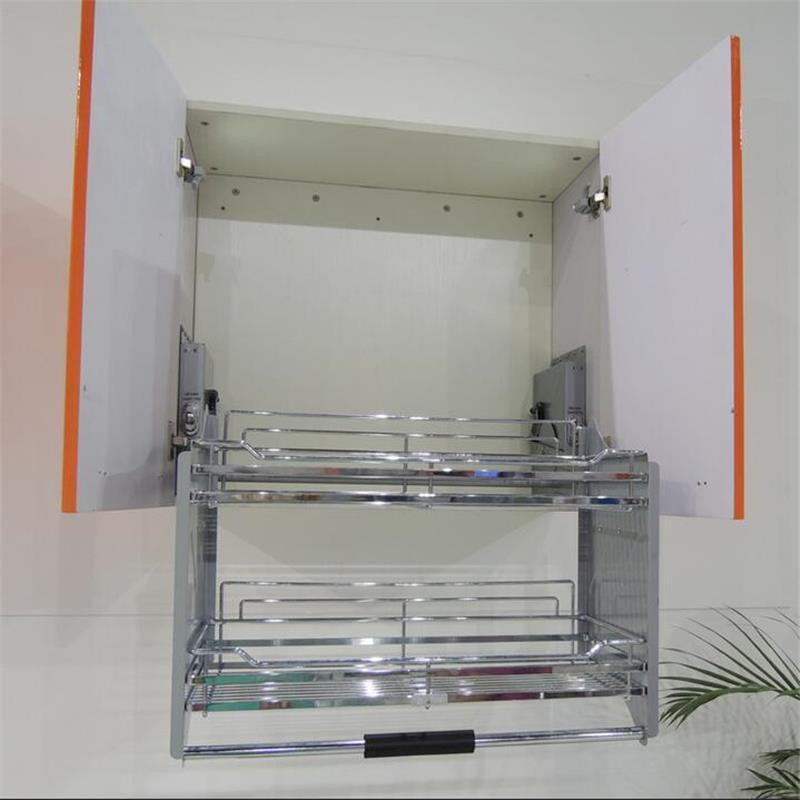 Keuken Armario De Despensa Cupboard Organizador Stainless Steel Hanging Organizer Cocina Cozinha Kitchen Cabinet Storage Basket