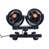 24V Car Fans 360 Rotation Backseat Dual Head Car Cooling Air Fan Cooler for Summer Travel