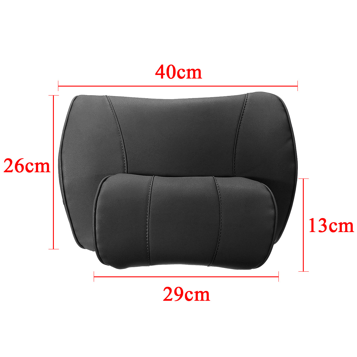 Removable Lumbar Pillow for Car Made with High Density Memory foam and PU Leather for Back Pain relief 5