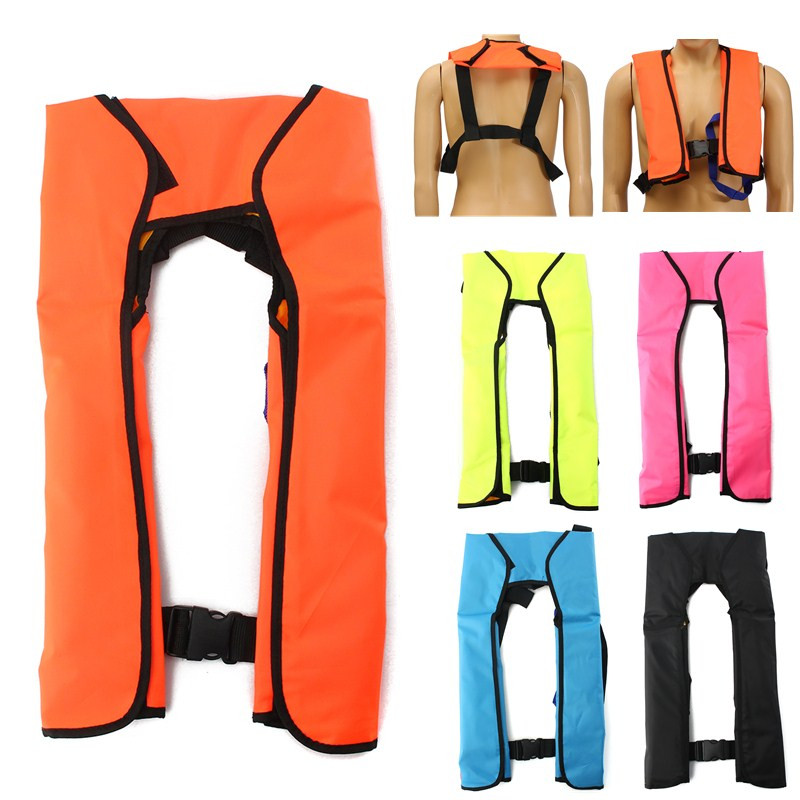Adult Inflatable Life Jacket Swiming Life Vest Fishing Life Jacket 5 Sec Automatic Inflatable Top Rescue Vest Survival Life JackAdult Inflatable Life Jacket Swiming Life Vest Fishing Life Jacket 5 Sec Automatic Inflatable Top Rescue Vest Survival Life Jack