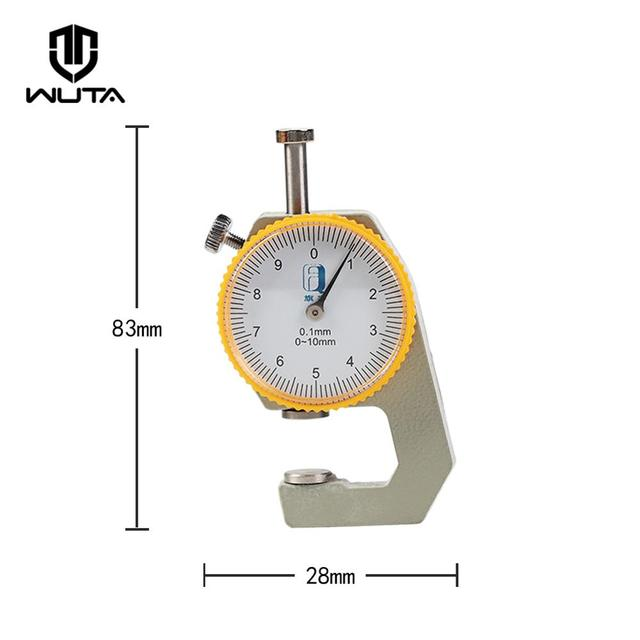 WUTA 0-10mm/0.1mm dial Leather Thickness Gauge Paper Meter Tester for Hollow Pipe or Circular Tube Caliper Gauge Measuring Tools