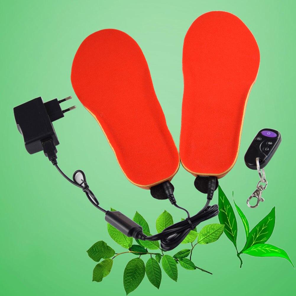 2018 Femmes Hommes Chaussures Électrique Pad Semelles Bottes Chaud Chauffée USB Télécommande Hiver Épais 1 paire