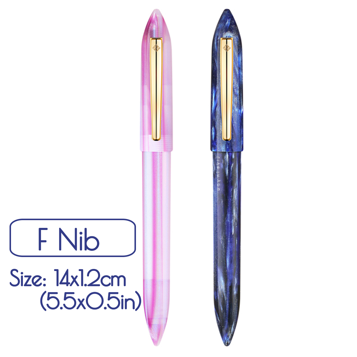 KICUTE F Nib Business Fountain Pen Resin Acetate Pen With Gift Box For Business Christmas Gift Wedding Signing MI TU Series emoshire wedding gift sets for man business collections chinese pen set with cufflinks wooden fountain pen and box pc009
