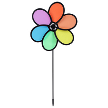 Новое поступление красочные радужные дазы цветок Спиннер ветряная мельница для сада, двора, улицы Декор детские игрушки