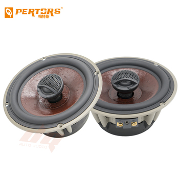 High Quality 2pcs 6.5 Inch Car Coaxial Speaker Auto Music Automotive Hifi Full Range Frequency Sensitivity Power Loudspeaker Red