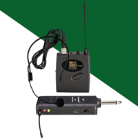 Rechargeable receiver uhf 24 band automatic frequency selection LCD built in lithium battery waist hung wireless microphone