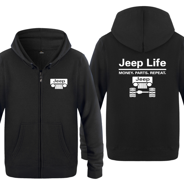 רכב חיים כסף חלקי חוזר חידוש Creative חולצות גברים 2018 Mens רוכסן ברדס צמר נים סוודרים