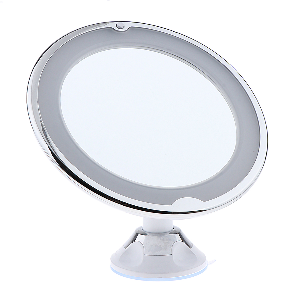 Fogless 7X Magnifying Bathroom Wall Mount Swivel LED Lighted Makeup Shaving Mirror Table mirror Decor