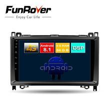 Lecteur dvd de voiture Funrover 8 core android 8.1 2 din pour Mercedes Benz Sprinter B200 W209 W169 W169 classe B W245 B170 W639 radio SIM