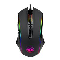 Redragon M910 Mouse Wired Gaming Mouse 7 RGB Backlight Modes 6200DPI 9 Adjustable Buttons Mice Ambidextrous Design