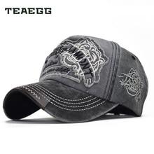 Teaegg Cap Bermerek Bisbol Topi Fashion Topi Pria 100% Dicuci Snapback  Tiger Head Bordir Kerai Cap untuk Wanita Katun f7fb471071