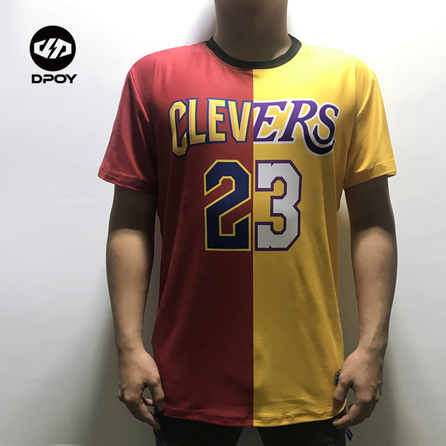 Dpoy original lebron james Tee shirt lakers mixing cavalier basketball  sport t-shirt for men kid women Quick-drying breathable 471494e4a2