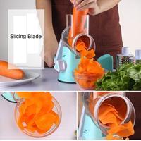 Multi function Chopper Hand Roller Rotary Design Grater Kitchen Vegetable Food Cutter Vegetables, Food, etc.