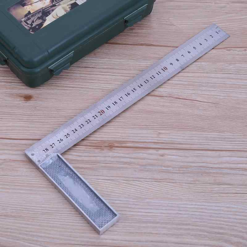 30 سنتيمتر/1 مللي متر 90 درجة المعادن الصلب محاولة مربع المهندسين الخشب أداة قياس زاوية الحق حاكم محاولة مربع أداة قياس مقاييس
