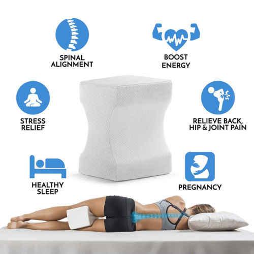 Memori Busa Kaki Bantal Bantal Pijat Pinggul Lutut Dukungan Pereda Nyeri Ortopedi