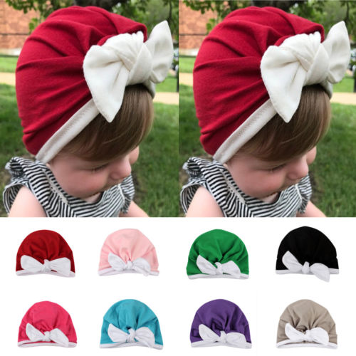 2019 Warm Autumn Winter   Skullies     Beanies   caps for kids Baby lovely Bowknot Hat   Beanie   Scarf Turban Head Wrap Cap Apparel Hats