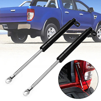 1pair 195mm Black Rear Spring Steel Tailgate Slow Down Strut Kits &Strut Kit suitable For FORD RANGER T6 Year 2012 2016