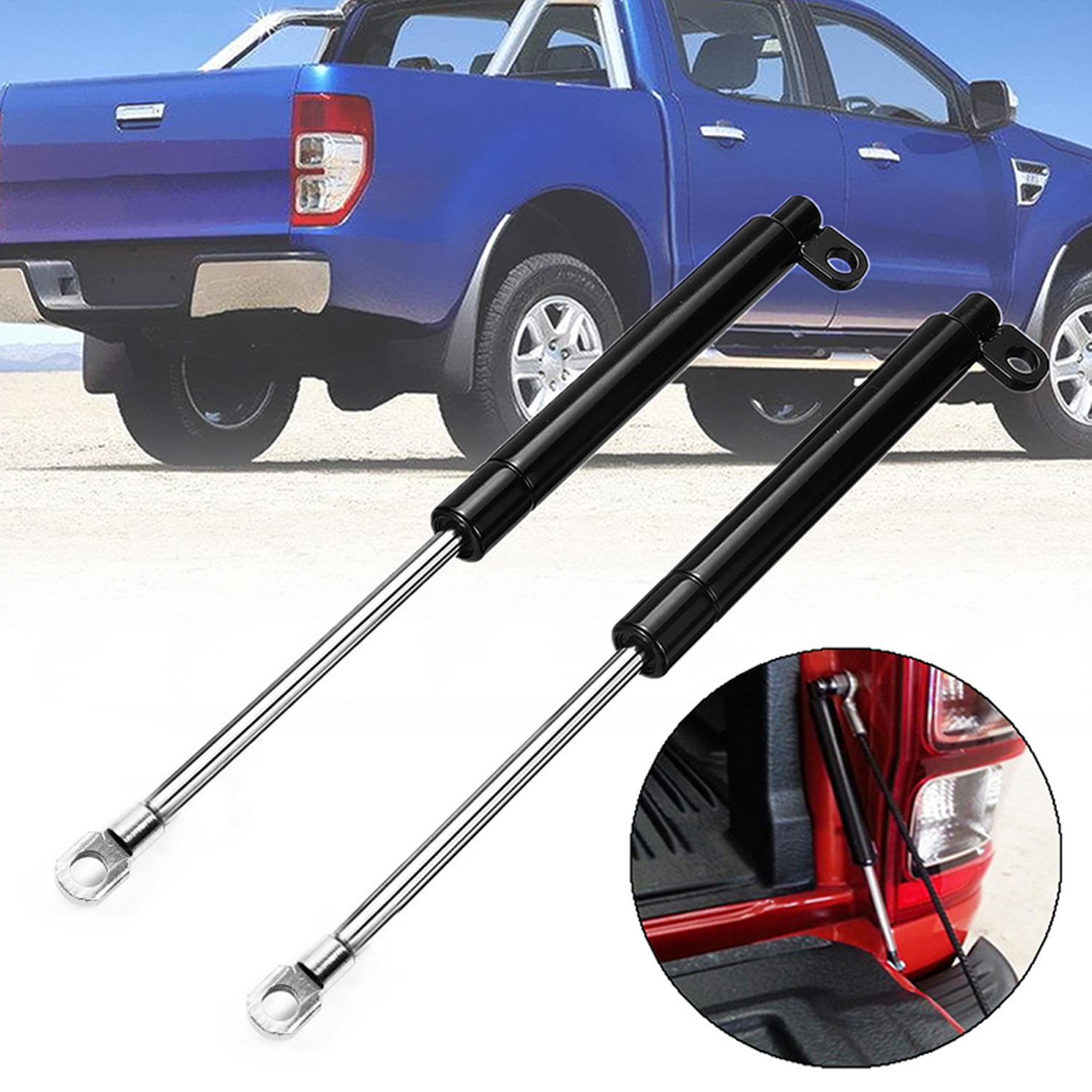 2X Rear Tail Gate Slow Down & Easy Up Lift Strut Kit Tailgates & Liftgates Car Accessories Parts For Ford PX RANGER TAIL GATE