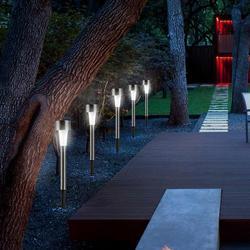 Luz solar de aço inoxidável à prova d'água IP65, lâmpada de energia solar para paisagem, gramado e jardim ao ar livre com 10 peças/lote