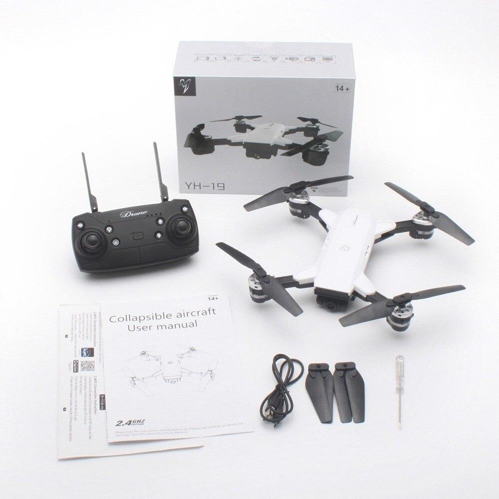 Drone pliable de Selfie de RC avec l'hélicoptère quadrirotor de maintien d'altitude d'appareil-photo de FPV HD de Wifi grand Angle VS jouets de réservoir de XS809HW H37