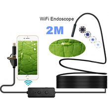 2 м 720 P инспекции бороскоп трубки камера 8 светодио дный мм для Android IOS PC Endoscopio эндоскопа Wi Fi и USB