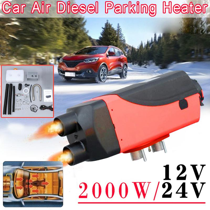 12v/24V 2000W Dual Hole Automobile Heater Diesel Engine Parking Heater Intelligent Car Parking Fuel Air Heater12v/24V 2000W Dual Hole Automobile Heater Diesel Engine Parking Heater Intelligent Car Parking Fuel Air Heater