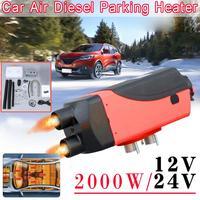12v/24V 2000W Dual Hole Automobile Heater Diesel Engine Parking Heater Intelligent Car Parking Fuel Air Heater