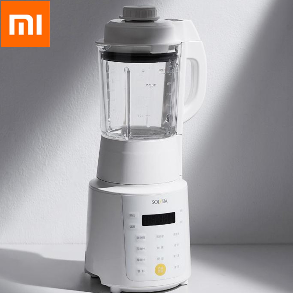 Xiaomi Multifunctional Heating HighSpeed Blender 1.75L Touch Screen Appointment Food Machine With 6 Leaf Steel Blade From Youpin