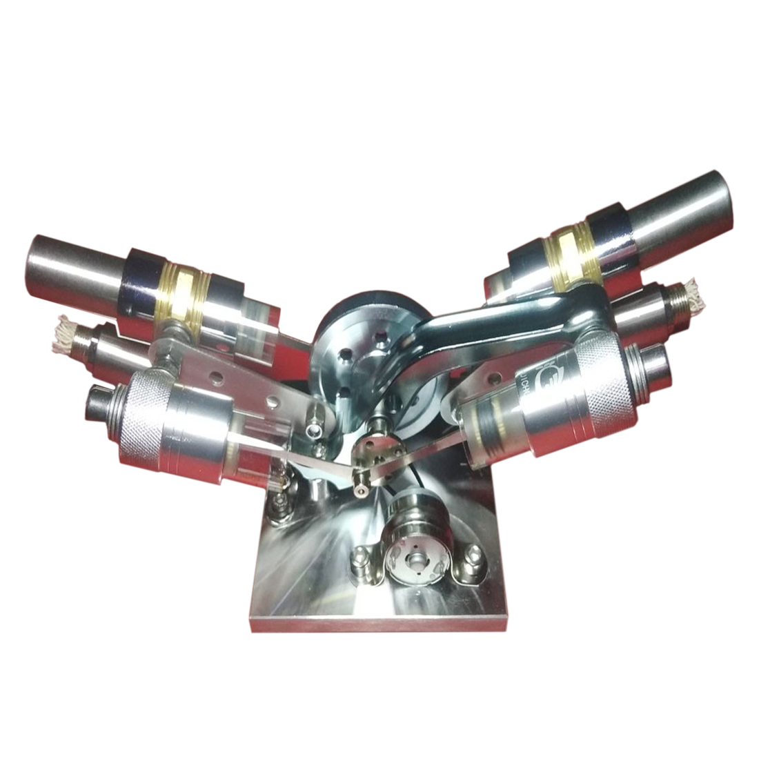 High-power Metal Hot Cylinder Double-cylinder Stirling External Combustion Engine Model Building Kits Education ToyHigh-power Metal Hot Cylinder Double-cylinder Stirling External Combustion Engine Model Building Kits Education Toy