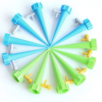 12pcs Garden Cone Lazy auto Watering seepage Spike adjustable valve Plant Flower Waterers Bottle Irrigation Practical Sprinkler 1