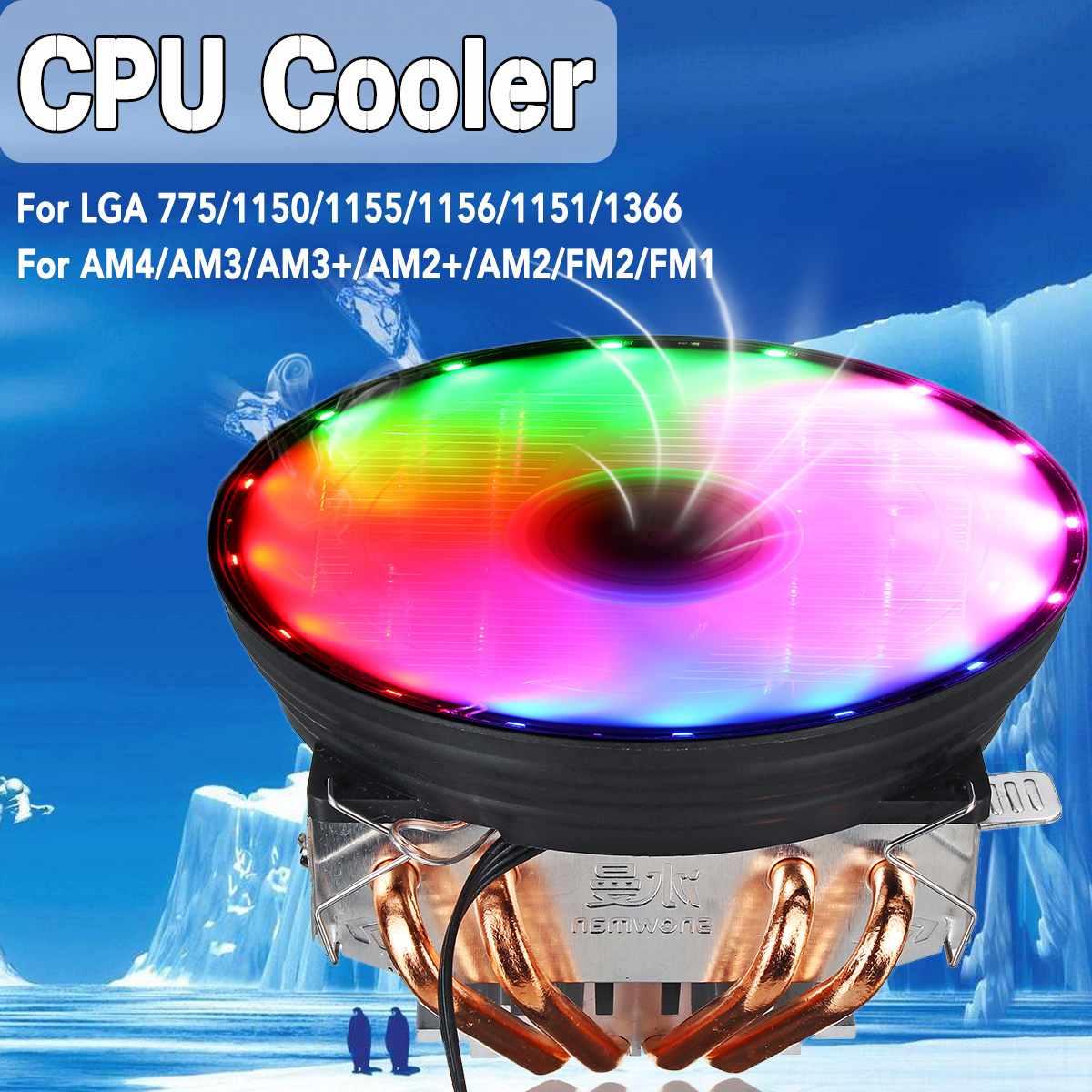 LED CPU Cooler Fan Heatsink Radiator For Intel LGA 1150/1151