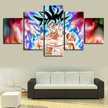 Home Decor Pictures Prints Canvas 5 Piece Modular Dragon Ball Poster Anime Son Goku Kakarotto Living Room Decorative Wholesale