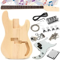 Wood Type Electric Bass Guitar Accessories Basswood Material Unfinished DIY Guitar Body Parts Fingerboard Builder Durable Kit