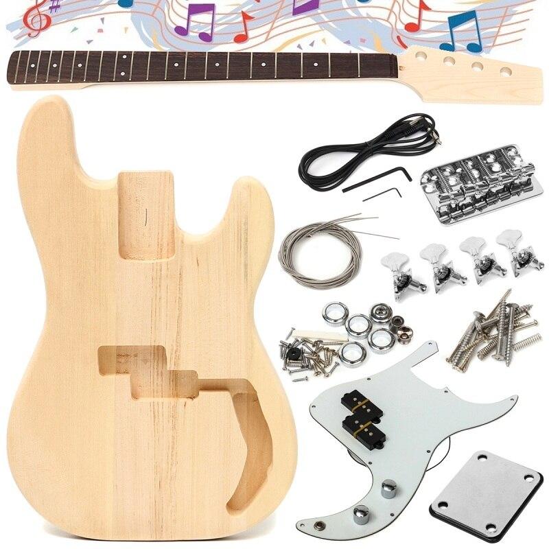 Accessoires de guitare basse électrique en bois matériel de tilleul bricolage inachevé pièces de corps de guitare Kit Durable de constructeur de touche