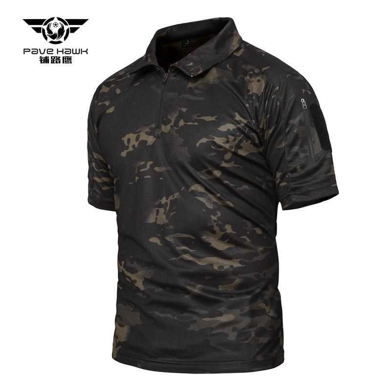 Летняя мужская камуфляжная тактическая футболка с коротким рукавом для