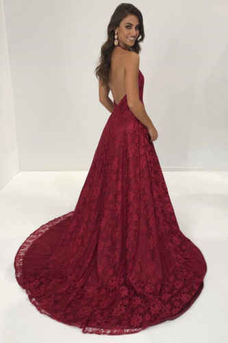 1486356131 ... Ladies Evening Party Solid Burgundy Long Maxi Dress Women Summer Sexy  V-Neck Sleeveless Formal ...