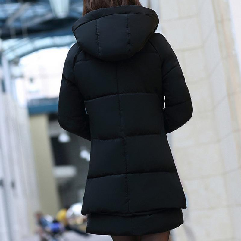 army Vestes Veste 5xl Vers Slim Coton Chaude Parkas Femmes La Manteau Taille Noir kaki D'hiver Outwear 2019 À Green Mode Bas Plus Long Épaississent Capuche Le c5L3Rq4Aj
