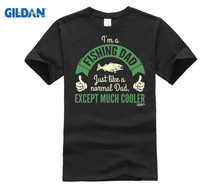 GILDAN DW Fishinger Dad Much Cooler T-SHIRT Fish Gear Accessories Funny Gift Birthday New Fashion T Shirt Graphic Letter