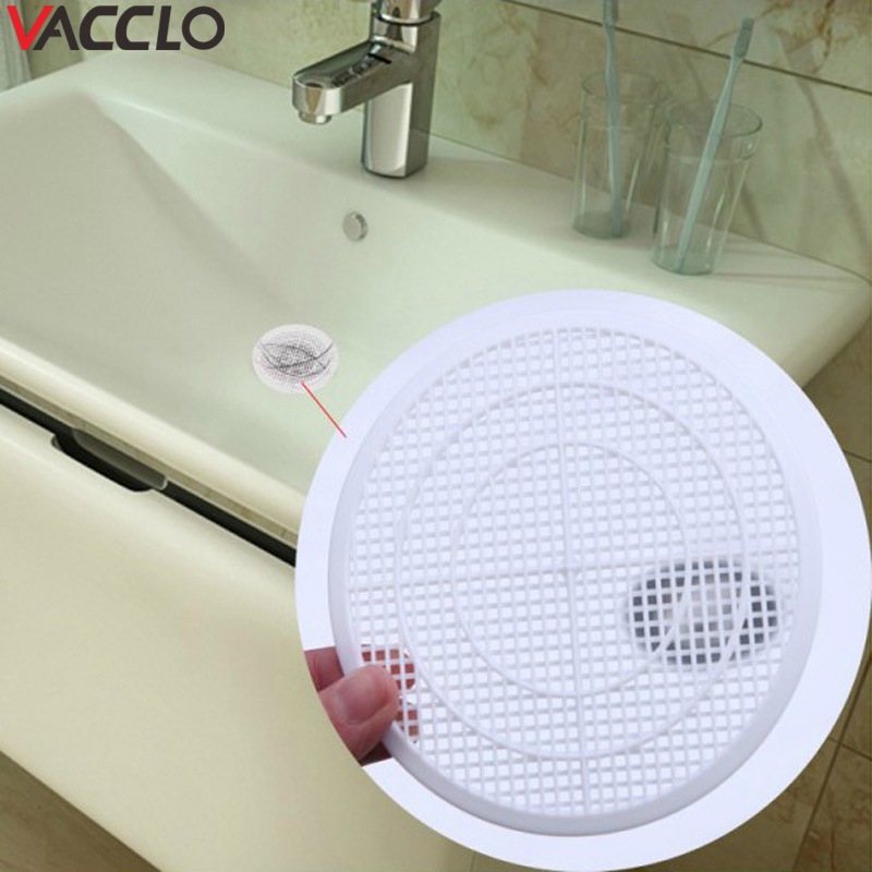 Vacclo 1pc Sink Drain Filter Japanese Style Can Cut Bathroom Drain Pool Filter Hair Catcher Mesh Slag Net For Kitchen Toliet