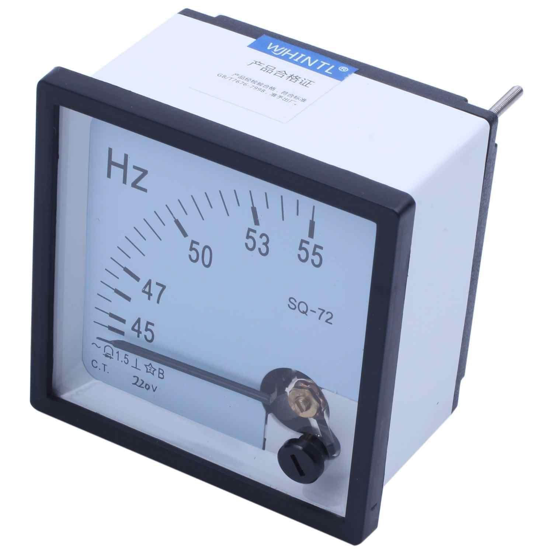 45 55 Гц 220 в пластиковый аналоговый панельный Частотный измеритель Герц Индикатор