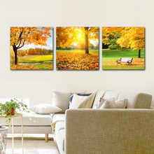 Modern Home Wall artist Residence Decorative Canvas Art Frameless Painting Modular Poster Panel Autumn Leaf Landscape Printing