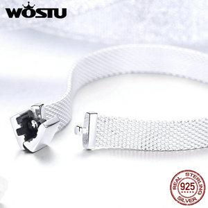 Image 3 - WOSTU Top Quality 925 Sterling Silver Metropolitan Style Bracelets Friendship Bangles For Women Luxury Jewelry CQX001