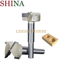 цена на Shina 1PC 12mm-80mm Forstner Tips Woodworking Tools Hole Saw Cutter Hinge Boring Drill Bits Round Shank Tungsten Carbide Cutter