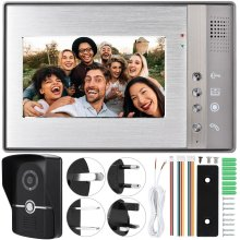 7 inch LCD Video Deurtelefoon Intercom Deurbel Wired IR Camera Deurbel(China)