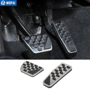 Pedales de coche MOPAI para Jeep Wrangler JL 2018 + Kit de Pedal de la placa de freno del pie del acelerador del coche para Jeep Wrangler 2019 accesorios de coche