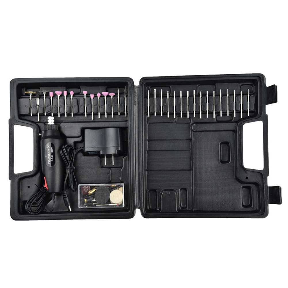 60pcs/set Electric Grinder Mini Drill Grinder Rotary Multi Tool Set Precision Drill With Mini Engraver Accessories DC 12V